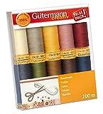 Gutermann 734521-3 Set 10 bobine Cotone C Ne 50, 100 m, Multicolore