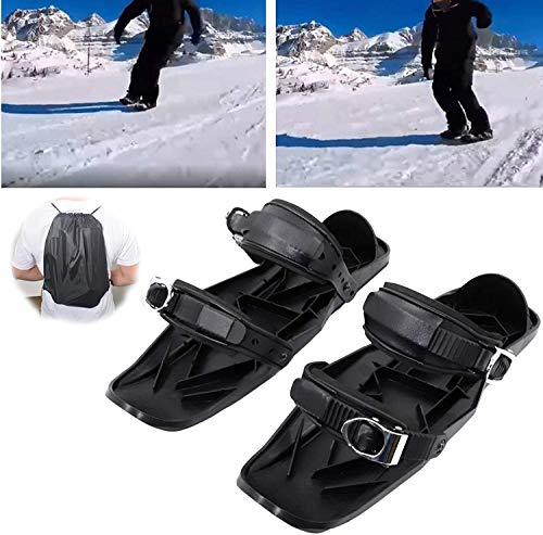SOAR Raquetas Nieve Mini patines de esquí, esquí ajustable al aire libre trineo para hombres, zapatos de esquí de deportes universales para esquiar deportes de invierno de hielo Patines de hockey de h