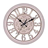 Reloj de pared al aire libre, reloj de pared de pared creativo retro reloj de cuarzo relojes de jardín al aire libre impermeable interior decoración al aire libre decoración exterior reloj exterior re