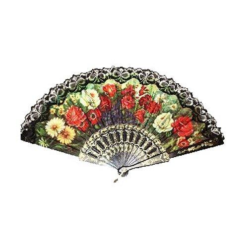 abanico plegable - SODIAL(R) Diseno decorativo abanico de mano espanol
