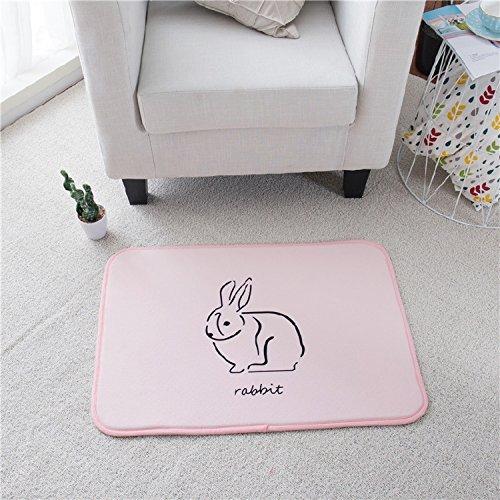 GRENSS SchöNES Cartoon Teppiche für Kinder Zimmer Eingang Fußmatte Girls Room dekorative Matten Geschenk für Kinder Badematten Bett Teppiche, 2.500 mm x 700 mm