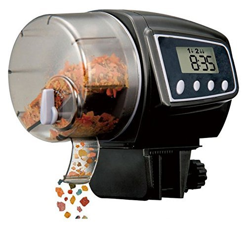 KLAREN 2005D Food Hopper Holds 35 Grams Aquarium Automatic Fish Food Tank Feeder Timer (Batteries Included)