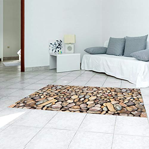 Pebble Home Decoratie Waterdicht Anti-slip Twill Film Vloerstickers Tapijt Muursticker 120 * 60 Cm