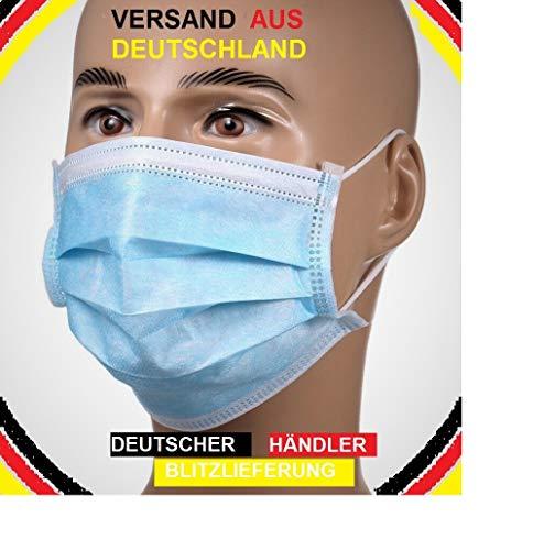 Mundschutz Masken Einweg Mund Nase Gesicht 3 lagig Community OP Labor Hygiene Behelfsmaske (20)