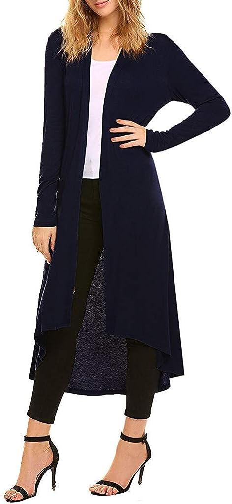 Long Cardigan Sweaters for Women,Women's Long Sleeves Knitting Cardigan Open Front Warm Sweater Outwear Coats with Pocket