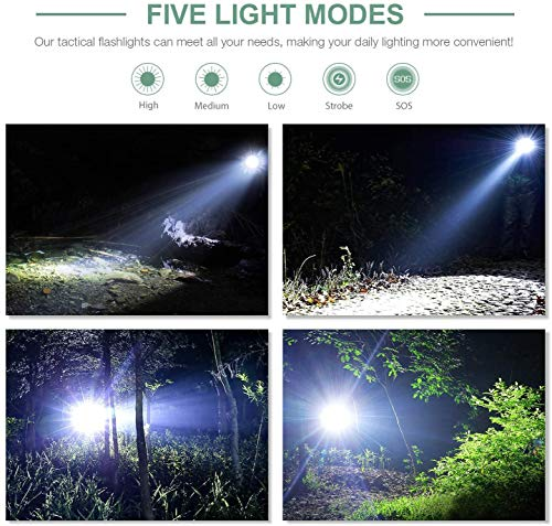 LETMY Waterproof Tactical Flashlight