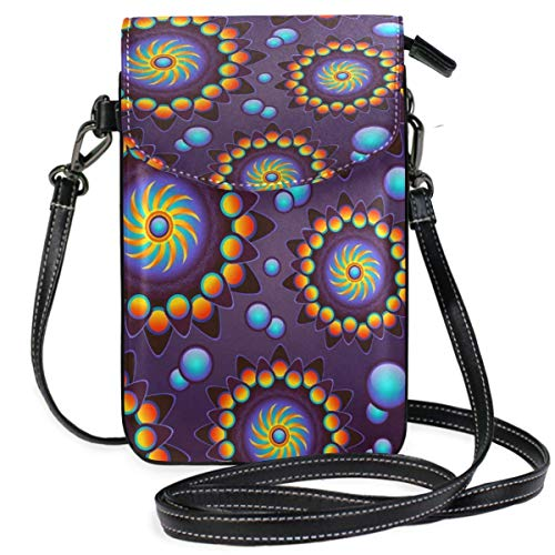 XCNGG Borsa piccola per cellulare Purple Mandala Art Cell Phone Purse Wallet for Women Girl Small Crossbody Purse Bags