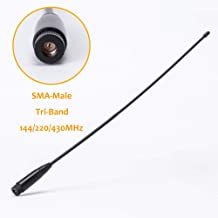SMA-Male Tri-Band 144/220/430MHz High Gain Antenna for TYT TH-350 Radio