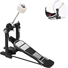 Bass Drum Pedal, Drums Set Pedal Single Bass Foot Kick Percussion Chain Drive Black 13.77 x 12.79 x 3.33""