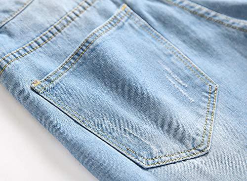 SWGG jeans rasgado masculino calças masculinas retas jeans azul claro 38