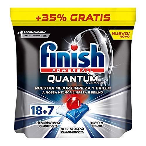 Finish Powerball Quantum Ultimate, pastillas para el lavavajillas - 25 unidades