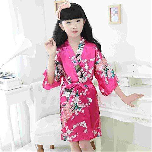 XFLOWR Kid Zijde Bloemengewaad Kimono Robes Bruidsmeisje Bloem Meisje Jurk Kinderen Badjas Slaapmode Babykleding Dressing