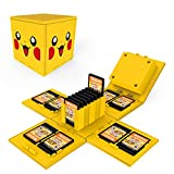 dainslef Foldable Mario Game Storage Box for Switch Game Cards Up,for Nintendo Switch Game Card Case Up to 16 Game Cards cases Pikachu