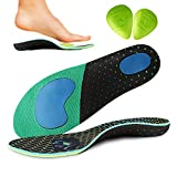 Pain Relief Orthotics, Plantar Fasciitis Arch Support Insoles Shoe Inserts for Men and Women with 2-Pack Metatarsal Pads (Navy, M 11-12)