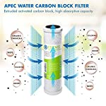 APEC Water Systems FILTER-SET-ES High Capacity Replacement Pre-Filter Set For Essence Series Reverse Osmosis Water… 14 APEC Water ESSENCE Series FILTER-SET-ES is for ROES-50, ROES-PH75, ROES-PHUV75, ROES-UV75-SS and ROES-UV75 Includes (1) sediment and (2) carbon block filters to protect and extend the life of the RO system 1st stage 5 micron Polypropylene sediment filter to remove dust, particles and rust