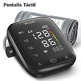 Tensiómetro de brazo, HYLOGY Monitor de Presión con pantalla táctil de LED, Medición digital automática con función de voz, Brazalete grande de 22 x 42 cm, Memoria para 2 usuarios x 90 mediciones