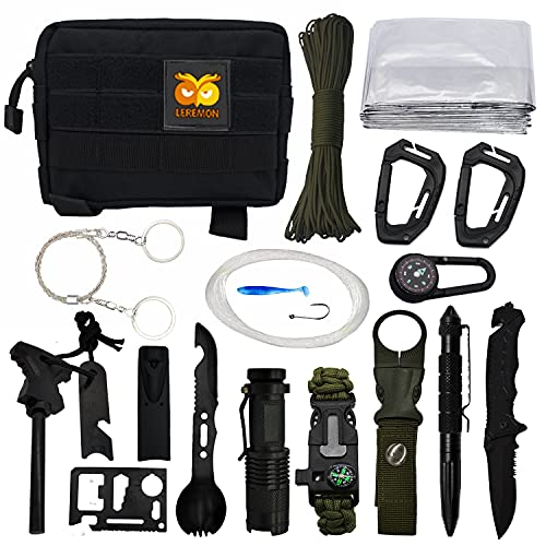 Survival Kit Outdoor Camping Essentials Emergency Gear 20 in...