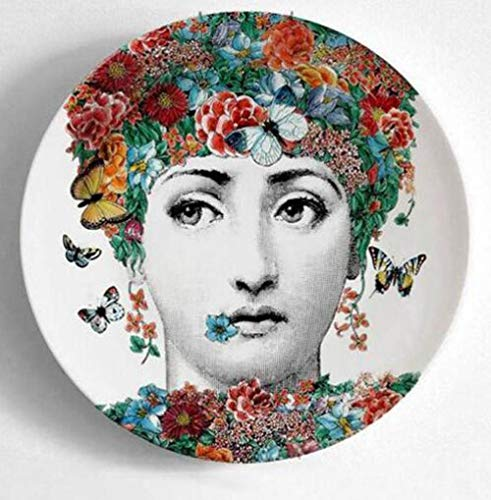 Fashion Milan Flat Wall Hanging Dishes Sample Room/Home/Hotel/Bar Art Style Background Decoration-1_8 Inch