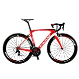 Vélos de Route Carbone, SAVA 700C Velo de Course Homme 22 Vitesses Shimano 105 5800 Group et Selle...