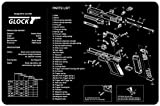 Ade Advanced Optics Cleaning Mat Mouse Gaming Pad with Printed Diagram for Glock Handgun