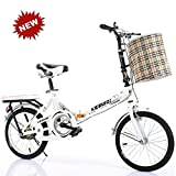 QINYUP Folding Bicycle,20 Inch bikes for adults,Women'S Light Work Adult Adult Ultra Light Variable Speed...