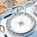 Brunner: Melamin-Geschirr Campinggeschirr (Antislip), 4 Personen (16 Teilig), Blue Ocean Lunch Box, Grill Und Picknick - 6
