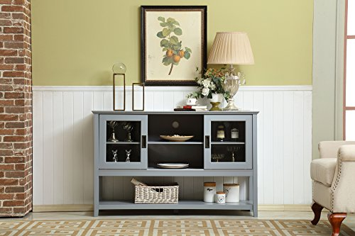 Mixcept-55-Modern-and-Contemporary-Sideboard-Buffet-Cabinet-Wood-Console-Table-Storage-Cabinet-with-Sliding-Doors-Kitchen-Dining-Room-Furniture-Gray
