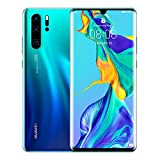 Huawei P30 Pro 128 GB 6.47 Inch OLED Display Smartphone with Leica Quad AI Camera, 8GB RAM, EMUI 9.1.0 SimFree Android Mobile Phone, Single SIM, Aurora, UK Version