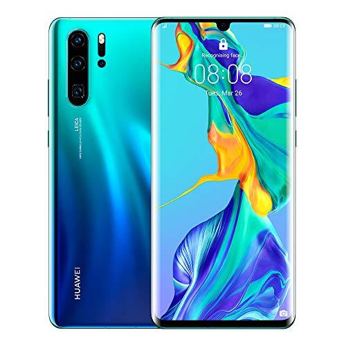 Huawei P30 Pro 128GB+8GB RAM (VOG-L29) 40MP LTE Factory Unlocked GSM Smartphone (International Version, No Warranty in the US) (Aurora)