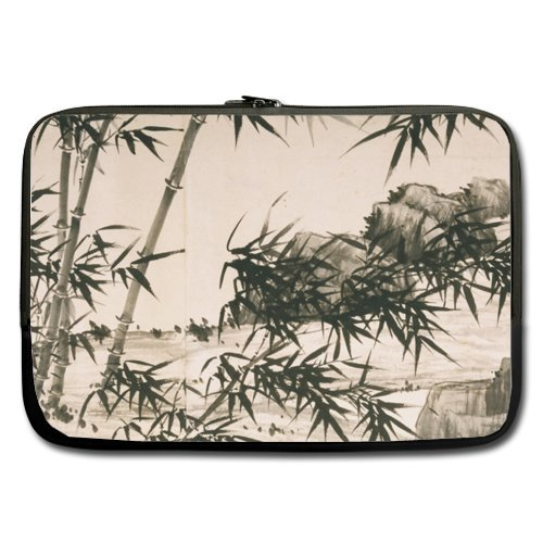 Mountain Bamboo Hard Best Price 17 Inch Laptop / Notebook Computer/ Water Resistant Neoprene Laptop Sleeve (Double-sided,No Straps)