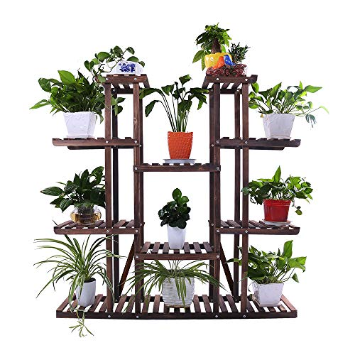 Ufine 9 Tier Wood Plant Stand 47.2