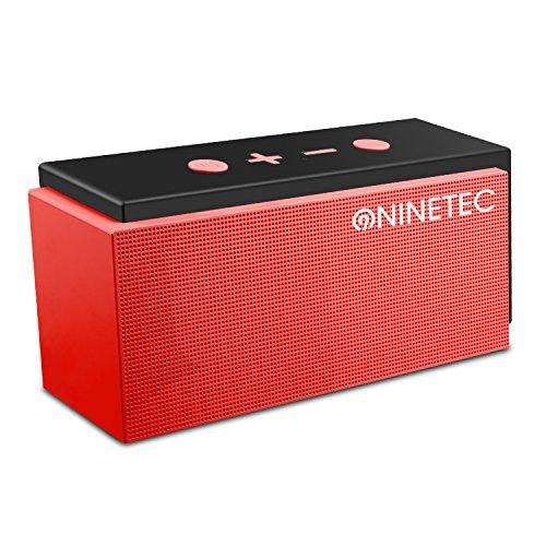 Ninetec Super Sonic 10Watt Bluetooth 4.0Speaker con radio FM AUX TF card e funzione vivavoce ROSSO