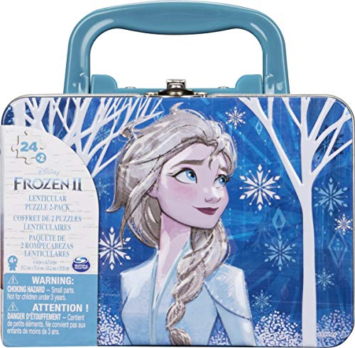 Spin Master Games Frozen 2 - 2 Puzzles im Tragekoffer (Puzzles Tin with Handle)