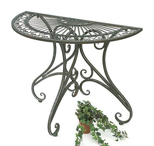 DanDiBo 130434 Table de jardin demi-ronde en métal 90 cm