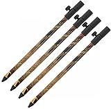 g8ds 4X Aluminium Bank Stick Camo 30-50 cm Rutenhalter Rutenauflage Rodpod