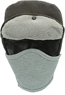 FEDULK Winter Trooper Trapper Hat Hunting Hats Unisex Warm Ear Flap and Ski Windproof Mask