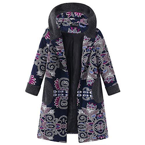 Prachtig klassieke bedrukte wollen jas Vrouwen Fleece verdikte vrouwen gebreide jas Cardigan Button lange jas kleding blouse tops outwear warm