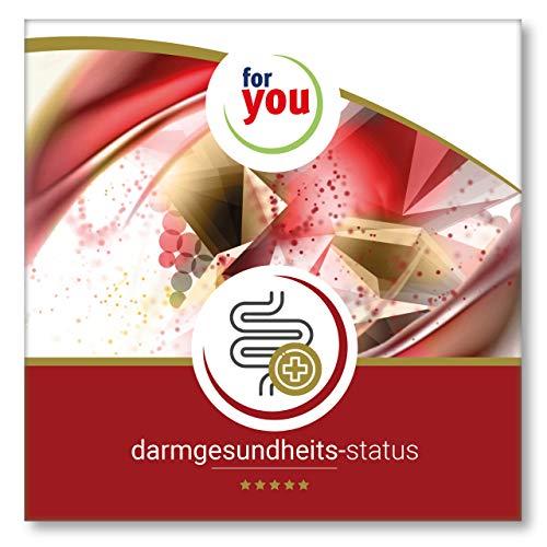 for you darmgesundheits-status I zertifizierter Labor Darm Test für Messung von guten sowie schlechten Darmkeimen Pilzen Verdauungsrückständen uvm I Stuhlprobe Selbsttest Darm Test 7 teilig