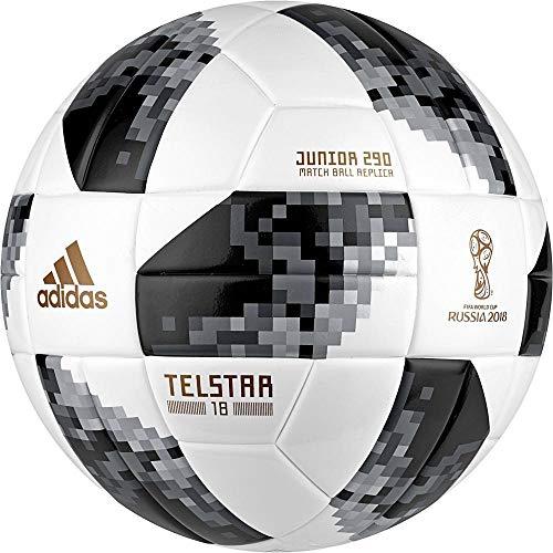 adidas FIFA Fußball-Weltmeisterschaft Junior Ball, White/Black/Silvmt, 4