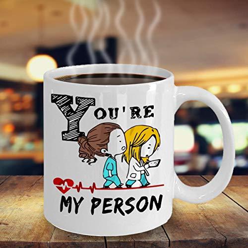 Eres mi taza de persona, Taza de anatomía de grey, Eres mi taza de persona, Regalos de anatomía de grey, Cita de anatomía de gray, Eres mi taza de persona, Taza de meredith 11 oz