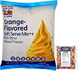 Dole Orange Lactose-Free Soft Serve Mix 4.4 Pound Bulk Bag with By The Cup Rainbow Sprinkles