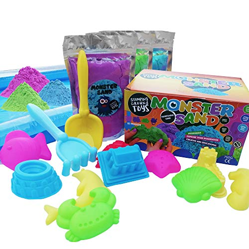 Monster Sand 10 Piece Box Set - Magic Motion Play Sand - Play Pit, Sand...