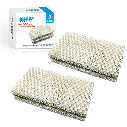 HQRP Humidifier Wick Filter Compatible with Sears Kenmore 14909/14912 / 32-14912, Emerson Essick Air AIRCARE HDC-2R & HDC-411, BestAir E2R Replacement, 2-Pack