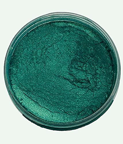 51g/1.8oz 'Emerald Green' Mica Powder Pigment (Epoxy,Resin,Soap,Art) BLACK DIAMOND PIGMENTS (Emerald Green)