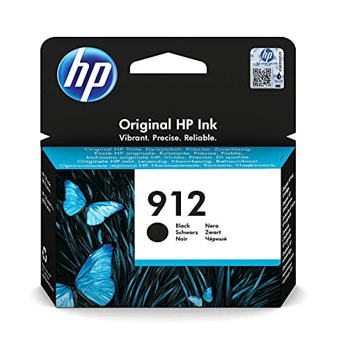 HP 912 3YL80AE, Negro, Cartucho de Tinta Original, compatible con impresoras de inyección de tinta HP OfficeJet Pro Series 8010; 8020
