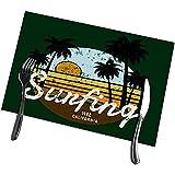 NA Tischsets California Surf Vectors Graphicssurfing Bekleidung Modedesign Sommer Waschbar Leicht zu reinig Tischset