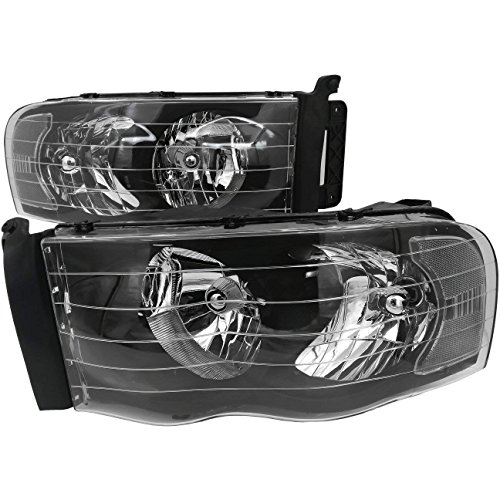 Rxmotor Ram 1500 2500 3500 Headlight Projector Retrofit Custom Made Off Road Used (CLEAR BLACK)