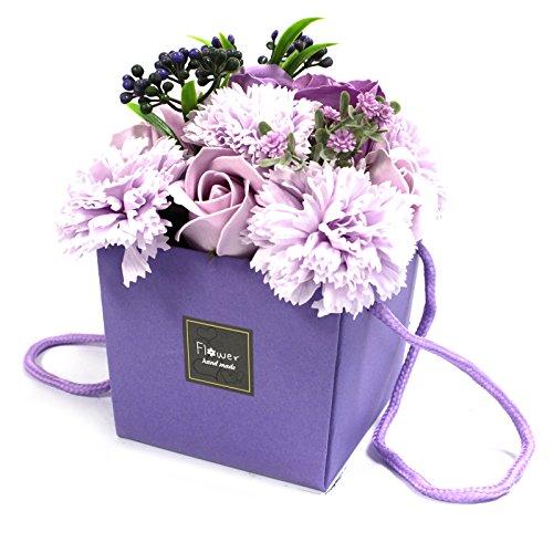1 x zeep Bloem Bouqet - Lavendel Rose & Anjer