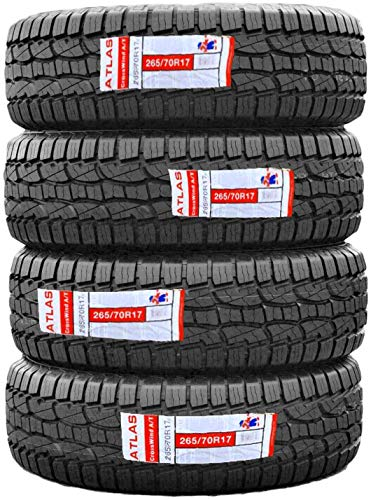 One Set (QTY:4) Atlas Crosswind A/T All-Season All-Terrain Tire-265/70R17 115T (4PLY) 2657017
