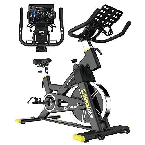 XXLYY Bicicleta de Ciclismo para Interiores Bicicleta de Ejercicio estacionaria Resistencia magnética, Cojín de Asiento cómodo, Soporte con Monitor LCD para Bicicletas de Entrenamiento de Cardio